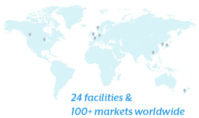 24 facilities and 100+ markets worldwide